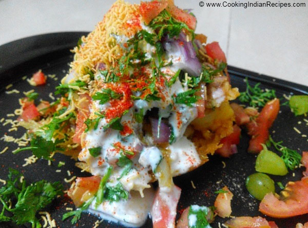 Basket Chaat Recipe. Potato basket Chaat Recipe. Indian Starter Recipe. Aloo Basket Chaat Recipe.