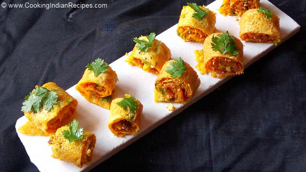 Besan Rolls Recipe, Besan Masala Rolls Recipe, Masala rolls Recipe. Veg Masala Rolls Recipe, Gram Flour Rolls Recipe, Indian Snacks Recipe. Besan Na Rolls Recipe.