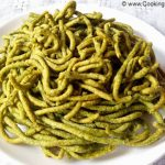 Spinach Besan Noodles Recipe, Palak Sev Recipe, Spinach Sev Recipe, How to Make Spinach and Besan Noodles, Home Made Palak Sev Recipe, Indian Snacks Recipe.